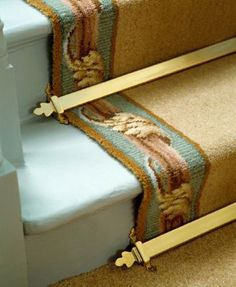 victorian stairs carpeted | Stair Rods & Door Bars & Other Tips to Create Your Period Home. Free ...