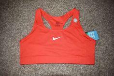 Nike Victory Compression Dri Fit Medium Impact Sports Bra Orange 375833 X Large #Nike #SportsBrasBraTops