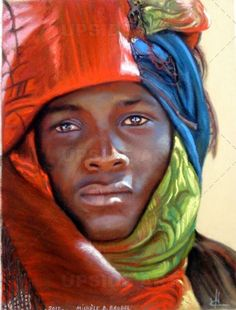 Peinture: 'Le turban rouge'