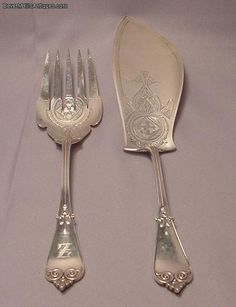 Tiffany & Co. sterling silver fish set c. 1869