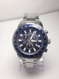 Invicta 1556 #men's #sports dive blue dial #stainless steel watch,  View more on the LINK: http://www.zeppy.io/product/gb/2/201524838418/