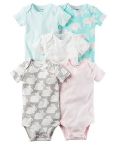 Baby Girl 5-Pack Short-Sleeve Original Bodysuits | Carters.com