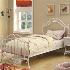 Bella Casual White Twin Bed