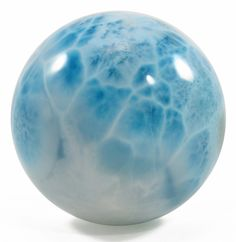 Larimar 1.67 inch 106.7 gr Natural Crystal Polished Sphere - Dominican Republic