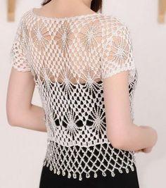 Crochet Sweaters: Free Crochet Bolero Pattern - Crochet With Crystal Beads
