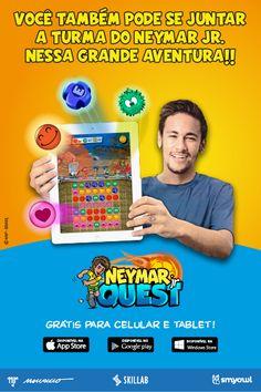 """Peça publicitária do game """"Neymar Jr Quest"""" criada para as revistas do Neymar Jr do estúdio Mauricio de Souza"""