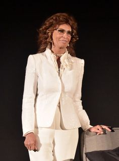 Actress Sophia Loren speaks onstage before the screening of 'Marriage Italian Style' during day four of the 2015 TCM Classic Film Festival, March 29, 2015, in Los Angeles.