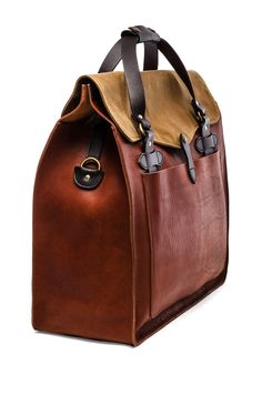 Filson Large Leather Tote en Cognac | REVOLVE