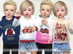 Available in 4 designs  Found in TSR Category 'Sims 4 Toddler Female'