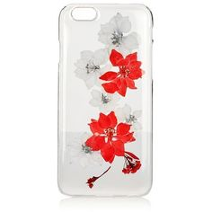 TopShop Pink Flower Iphone 6/6s Case (£12) ❤ liked on Polyvore featuring accessories, tech accessories, pink, clear flower iphone case, pink iphone case, iphone cover case, flower iphone case and clear iphone case
