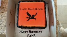 For my daughter's 10th birthday. Camp Half Blood, percy jackson cake ideas, greek mythology kids party
