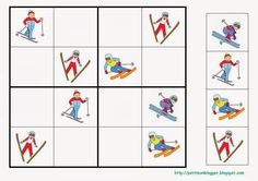SUDOKU winter skier The Effective Pictures We Offer You About Winter Sports Preschool pictures A quality picture can tell you many things. You can find the Preschool Painting, Preschool Songs, Preschool Education, Craft Activities For Kids, Winter Activities, Vive Le Sport, Preschool Pictures, Sudoku Puzzles, Winter Olympics