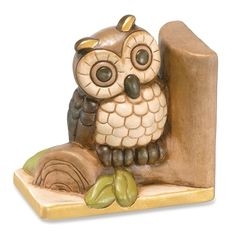 Owl On Branch Bookends by Thun