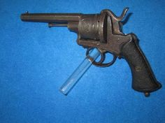 CIVIL WAR FRENCH PINFIRE REVOLVER! - Revolvers and Pistols - Vin Caponi Historic Antiques