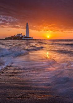 St Mary's Lighthouse, St. Mary's Island, England ~ Calum Gladstone