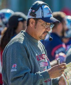 "WK 13 - Sept.20 2015 - Wpg.14 - Mtl.35 - Offensive Cordinator/QB Coach Anthony Calvillo (AKA ""Professor"")"