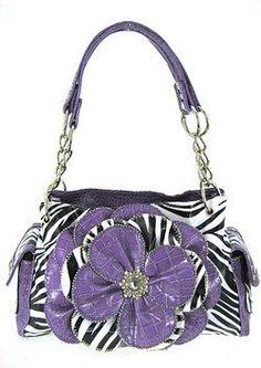 Spring 3d Raised Flower Croco Zebra Print Satchel Purse Laminated Purple Black White scarlettsbags, http://www.amazon.com/dp/B007GHHC1U/ref=cm_sw_r_pi_dp_3yhKpb116AXP3
