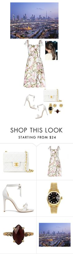 """""""Day #2 (Visiting homes for the new home)"""" by medicicapetiens ❤ liked on Polyvore featuring Chanel, Dolce&Gabbana, Alexandre Birman, Rolex, Chan Luu and Gucci"""
