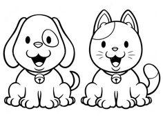 Gatos para colorear 10 Puppy Coloring Pages, Cartoon Coloring Pages, Disney Coloring Pages, Colouring Pages, Printable Coloring Pages, Coloring Pages For Kids, Coloring Books, Kids Coloring, Scrapbook Patterns