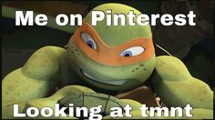 Me on Pinterest looking at tmnt