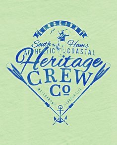 Heritage Crew - Selection of Summer Logos -with a heritage rowing crew mood. Kids Branding, Branding Design, Logo Design, Nautical Design, Nautical Art, Typography Letters, Hand Lettering, Vintage Fonts, Logo Vintage