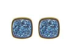 Blue Druzy Studs...love these! And they're made by a Brazilian designer!