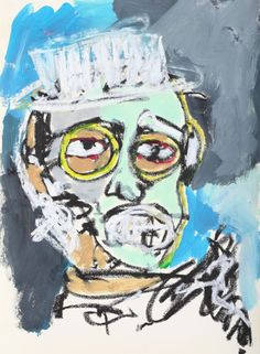 """This original work titled """"Man 003"""" is 30x42 cm in oil stick & acrylic on paper (90 gr.). It was made in June 2016 in Spain and is signed and dated on the back. It will ship carefully rolled up in ..."""