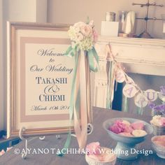 ウェルカムボード by AYANO TACHIHARA Wedding Design