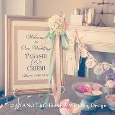 ウェルカムボード by AYANO TACHIHARA Wedding Design