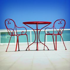 Wrought Iron Patio Furniture Inspired By the Cafe Seating Found In Paris & Rome