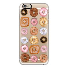 iPhone 6 Plus/6/5/5s/5c Case - Donuts for Days Illustration by Joanna... ($40) ❤ liked on Polyvore featuring accessories, tech accessories, phone case, iphone case, apple iphone cases, iphone cover case and iphone cases