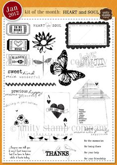 Unity Stamp Company January 2012 Kit of the Month