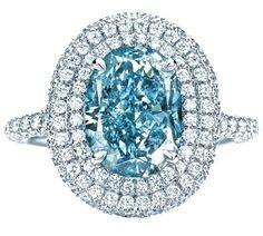 Tiffany Anniversary Blue. It is a rare brilliant color green blue diamond.