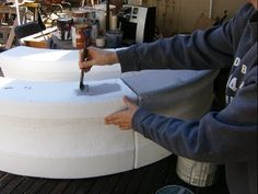 ▶ Carved & Sculpted Foam 3-Tiered Water Fountain Prop: Part 1 - YouTube