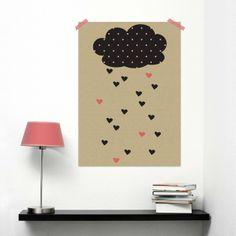 Druck Poster Regenwolke // Print poster raining cloud by Oktoberdots Shop via DaWanda.com