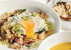 Bacon & Leek Risotto w/ Poached Egg ... making this for dinner tonight!!