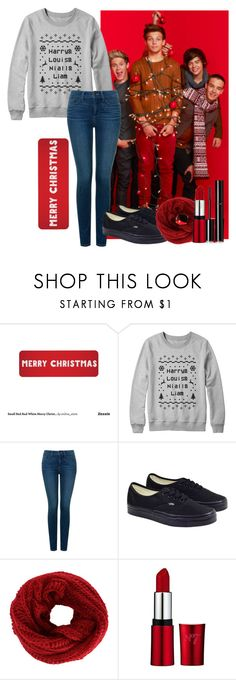 """""""Merry Christmas with One direction"""" by ines-lynch ❤ liked on Polyvore featuring NYDJ, Vans and Chanel"""