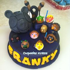Angry birds Star Wars themed birthday cake.
