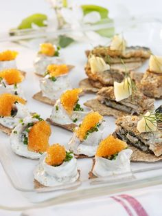 Fried Pickled Herring with Crisp Bread and Herrgårds Cheese Recipe - Swedish pickled herring appetizers |  www.blogs.sweden.se