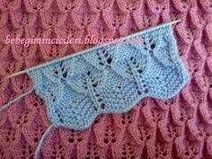 Lace Knitting, Knitting Stitches, Knitting Patterns, Crochet Patterns, Crochet Bikini, Knit Crochet, Knitted Baby Clothes, Baby Cardigan, Lana