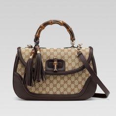 c3885096f70c Gucci 254883 FWCGG 8655 new bamboo large top handle bag with tassels -  Dobestbuy Replica Handbags