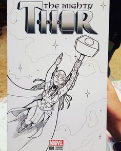 My first sketch cover! Lady Thor is such a great character. Thank you for choosing me as your illustrator for this :) #thor #sketchcover #sketchcovers #artistsoninstagram #artsagram #artstagram #lineart