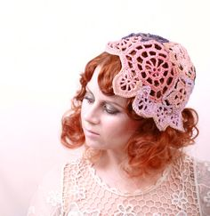 Summer hat crochet hat crochet beanie Pink hat  Blue by mynoush, $93.00