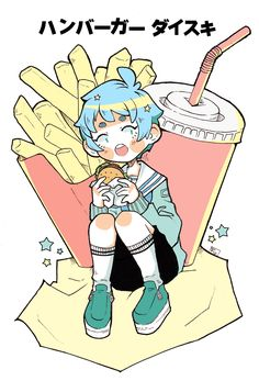 Fast food ~ cute illustration