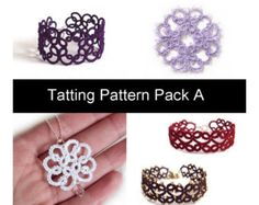 Tatting Pattern PDF  Christina Bracelet  Beginner  von TataniaRosa