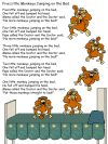 coloring book pages for the nursery rhyme five little monkeys Rhyming Activities, Preschool Songs, Educational Activities, No More Monkeys, Five Little Monkeys, Monkey Coloring Pages, Coloring Book Pages, The Napping House, September Preschool