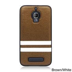 Alcatel One Touch Fierce Hybrid Black/ Red Stripe TPU/PU Smartphone Cover