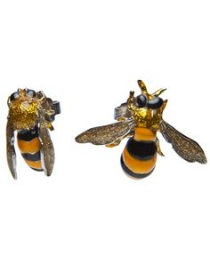 Delfina Delettrez Bee Earrings.  I love how realistic these look.  They would freak people out for a minute.