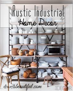 Check out Dwell Beautiful's inspiration for rustic industrial home decor for any room in your house! Get tips on how to get the rustic industrial look in your home!