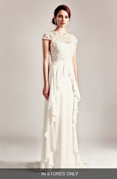 Temperley London 'Bluebell' Silk & Embroidered Lace Gown: Aria wedding dress